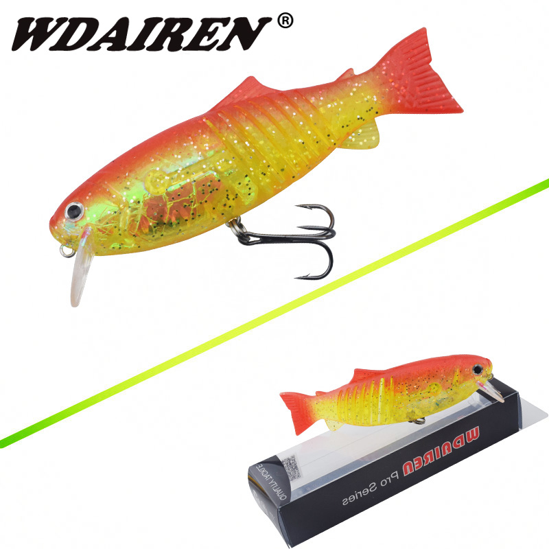 1Pcs Long Range Casting Fishing Lure 10.5cm/20g Soft Tail Hard Body Bait Artificial Minnow Lures Noisy Steel Balls WD-024