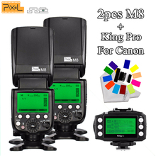2Pcs Universal flash & Flash synchroniser Pixel M8 Wireless Transmitter For Canon 5DIV 5DIII 5DII  5D 7D 7DII 80D 70D 60D 50D 7 godox x1t c transmitter 2 4g ttl hss 1 8000s wireless flash trigger for canon 6d 60d 70d 600d 650d 700d 750d 7d 7dii 5dii 5diii
