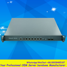 Huge storage 1U Rack 6LAN Network Security/Router Barebone