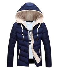 In The Winter Of 2016 Male Jacket Zipper Hoodie Winter Jacket Leisure Men Hooded Jacket Warm Coat