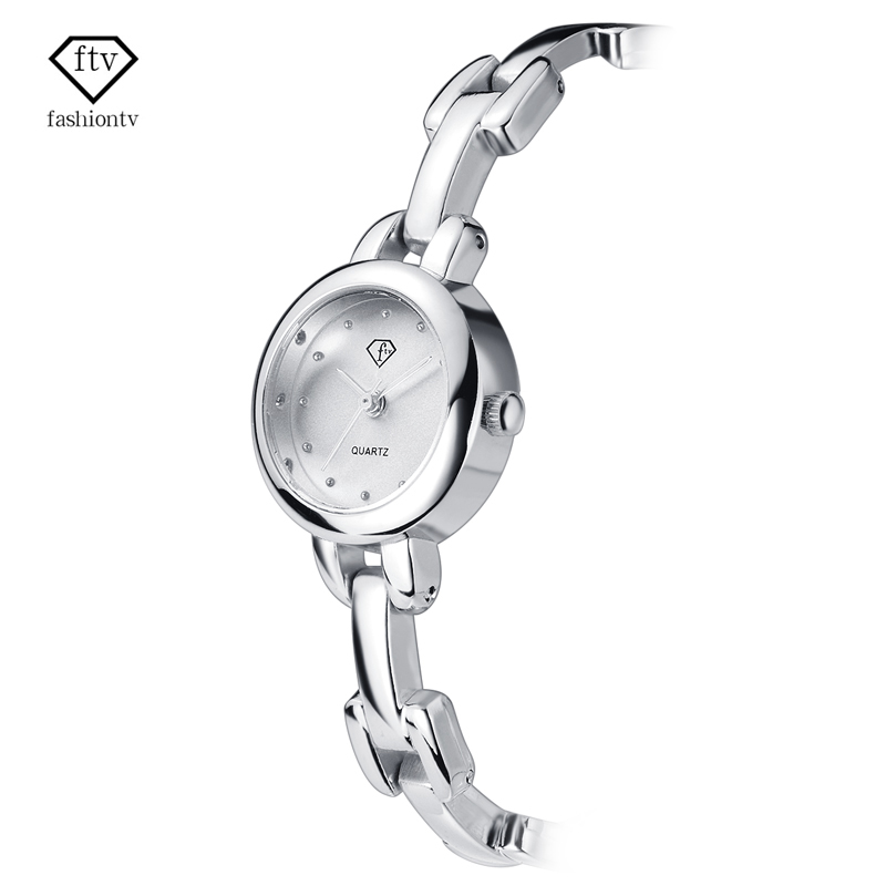 FTV WomenWatches Bracelet Strap Silver Watch women Ladies Watches for Small Wrists Beautiful Relogio Feminino 2017