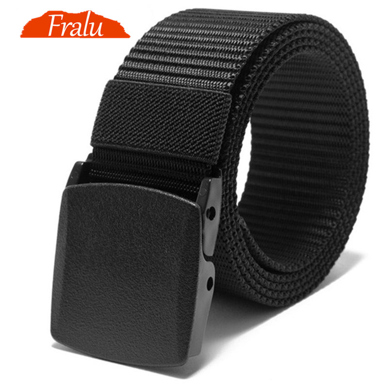FRALU Automatic Buckle Nylon Belt Male Army Tactical Belt Mens Military Waist Canvas Belts Cummerbunds High Quality Strap