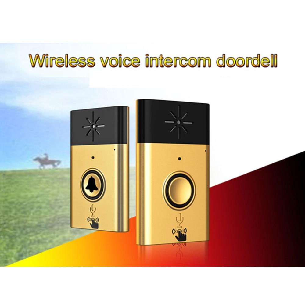 Wireless Doorbell Voice Door Phone Chime Intercom Interphone Home Security Doorbell silver/Glod