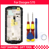 New original Touch Screen LCD Display For Doogee S70/S70lite Digitizer Assembly With Frame Replacement Parts+Disassemble Tool