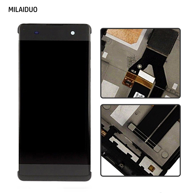 For Sony Xperia XA F3111 F3113 F3115 LCD Display Touch Screen With Frame Digitizer Assembly Original 5 0 Inch Black White in Mobile Phone LCD Screens from Cellphones Telecommunications