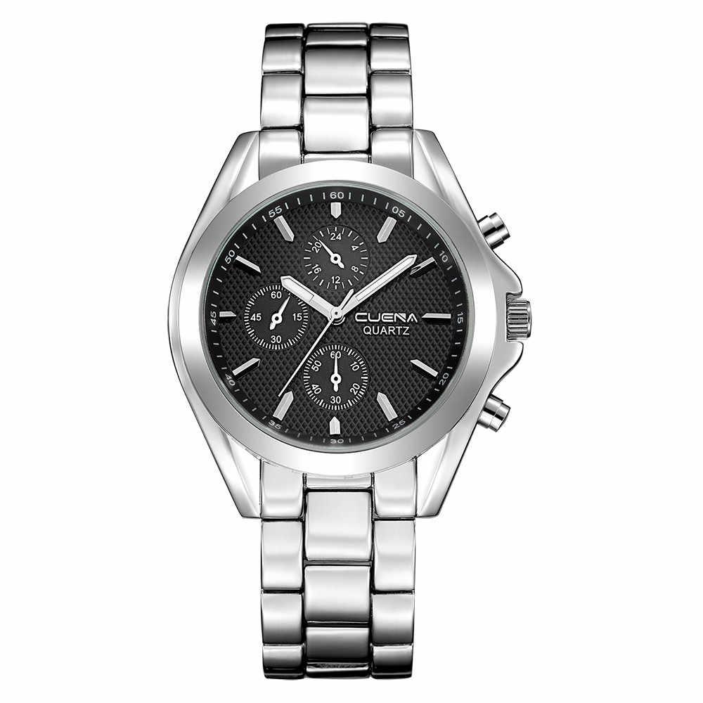 גברים שעון יד אופנה יוקרה תאריך זהב חיוג נירוסטה אנלוגי קוורץ שעונים לגברים קוורץ גבר שעונים Montre Q5