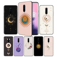 Gold moon and Sun Aesthetic wallpapSoft Black Silicone Case Cover for OnePlus 6 6T 7 Pro 5G Ultra-thin TPU Phone Back Protective
