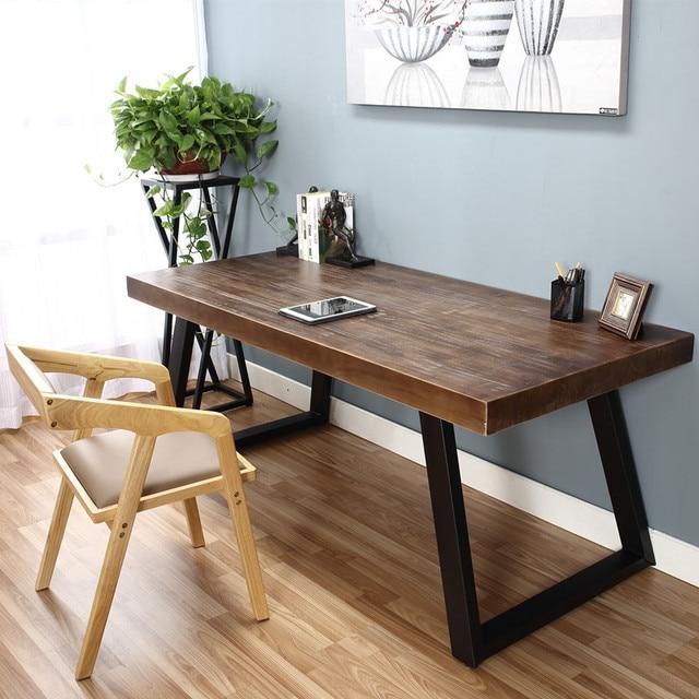 Tavolo tavoli e sedie In ferro Battuto Doppio legno massello ...