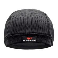 WOSAWE Breathable Mesh Mens Motorcycle Helmet Inner Caps Anti-Sweat Hat Thin Mot
