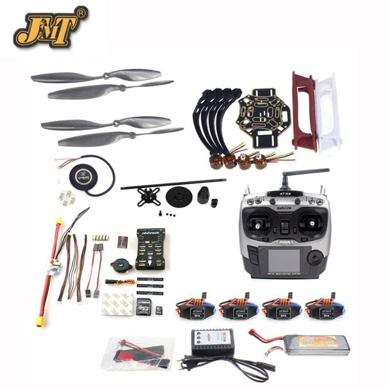 купить JMT DIY FPV Drone Quadcopter 4-axle Helicopter Kit 450 Frame PXI PX4 Flight Control 920KV Motor GPS AT9s Transmitter Props недорого