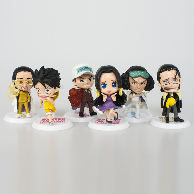 8cm Luffy Nami Portgas D Ace Shanks Model Toy Dolls 1pcs Random Delivery Opp Packed One Piece Figure