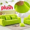 Plush cotton elastic flower sectional slipcovers high quality sofa seat cushion plaid stripped furniture corner sofa cover
