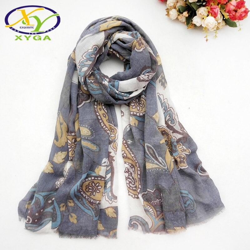 Women Cotton Long Scarves Spring Lady's Shawls Thin Summer Ethnic Style Female Wraps Muslim Head Kerchief Scarves Autumn