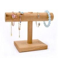 Wood Bracelets Chain Bangle Display T Bar Holder Jewelry Display Holder Jewellery Display Stand Bracelets T Bar
