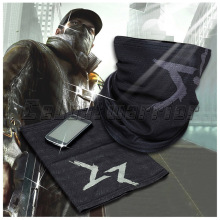 Nemokamas pristatymas Watch Dogs Aiden Pearce Face MASK Neck Warmer Video Game Cosplay Scarf Kostiumų kaukė