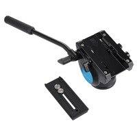 PULUZ Video Tripod Başkanı ve Quick Release DSLR için Sürgülü Plaka & Monopod Tripod Kaymak Video Film SLR Kameralar için Kafa ateş