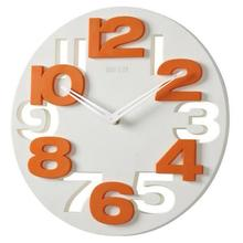 Novelty Round Hollow-out 3D Big Digits Any Room Walll Clock