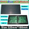 Azul P10 Ao Ar Livre Display LED Módulo, p10 LED Azul Painel, Placa da Mensagem, Sinal de Marca, À Prova D' Água, alto Brilho