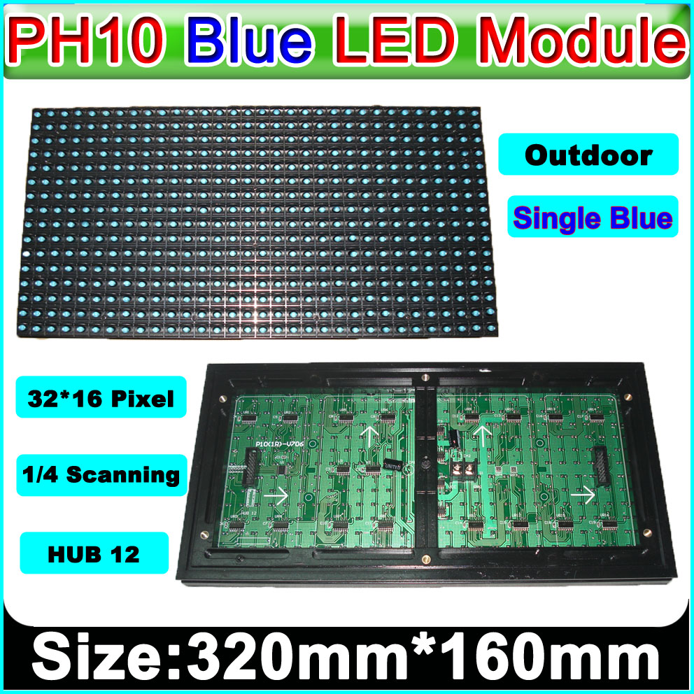 P10 Blue Outdoor LED Display Module,p10 Blue LED Panel,Message Board,Brand Sign,Waterproof,High Brightness