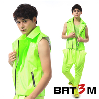 Hot sale fashion male neon green motorcycle vest men's clothing costume