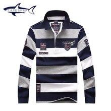 Brand Tace & Shark Shirt men fashion striped slim fit camiseta masculina shirts plus size Shark shirt dress men clothing T659