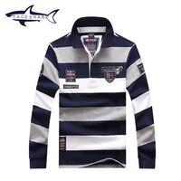 Merk Tace & Shark Shirt mannen mode gestreepte slim fit camiseta masculina shirts plus size Shark shirt jurk mannen kleding T659