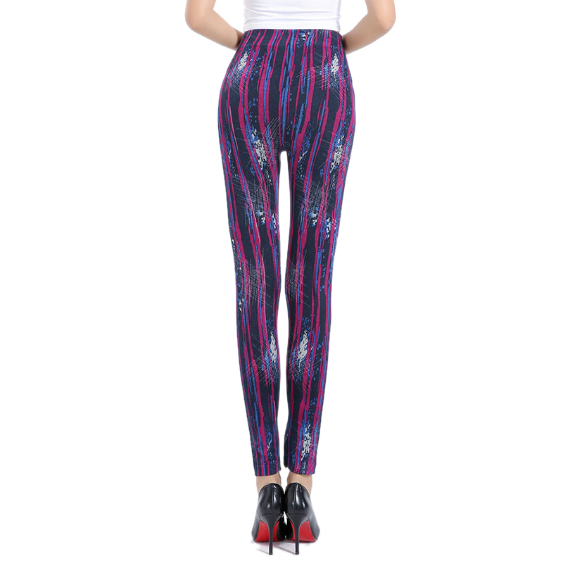Women Printing Leggings Put Hip Elastic High Waist Legging New No Transparent Fitness leggings Breathable Gym Sport Pants Purple in Leggings from Women 39 s Clothing