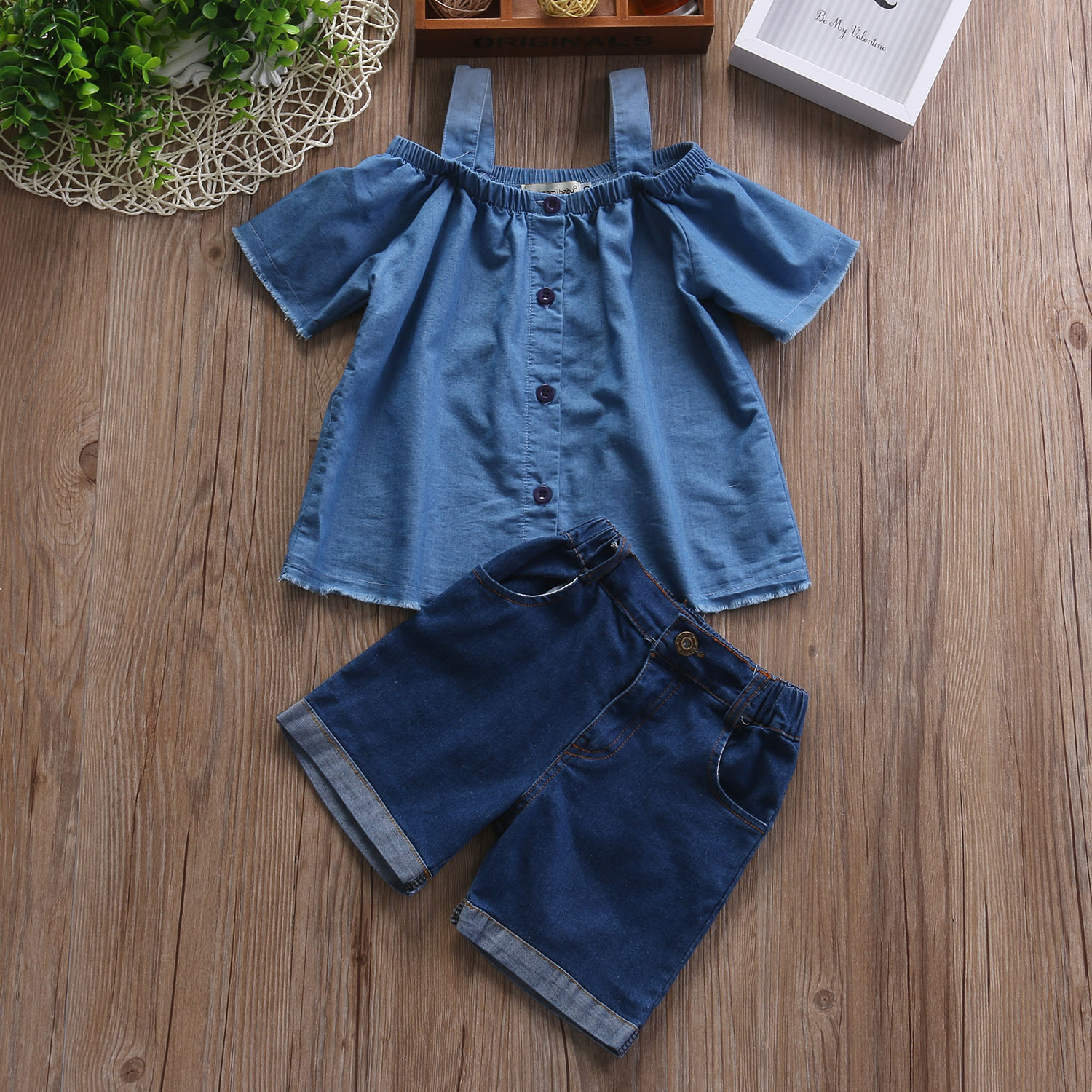 008760647bb Pudcoco Mother Daughter Clothes Sets Cold Shoulder Denim Tops and Denim  Shorts Mom Kids Match Summer Outfit-in Matching Family Outfits from Mother  & Kids on ...