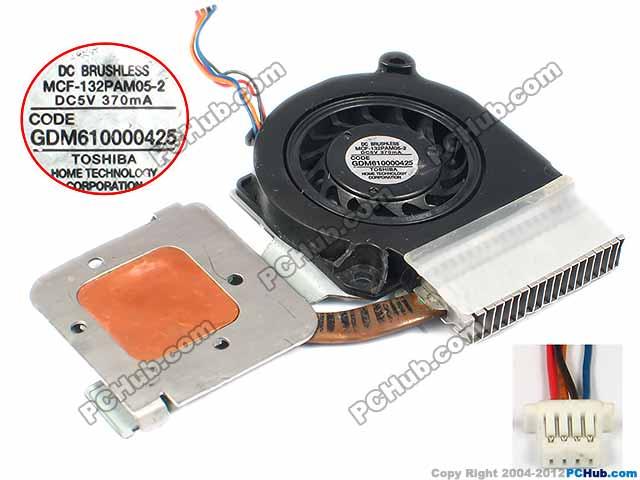 Free shipping for MCF-132PAM05-2, GDM610000425 DC 5V 370mA 4-wire 4-pin Heatsink Fan