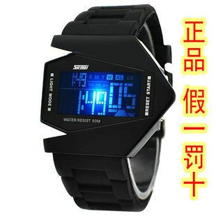 Fashion electronic watch led male child watch jelly table unisex table