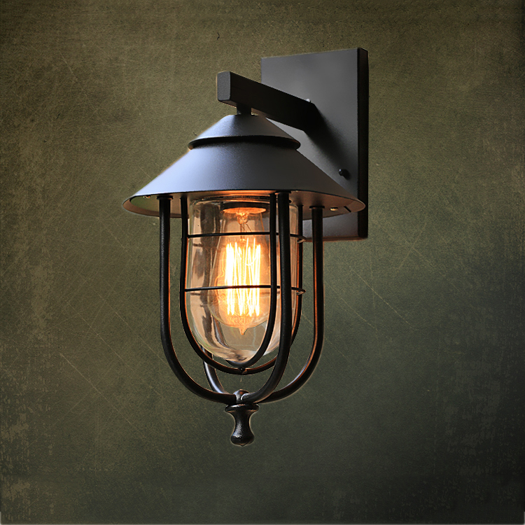 Loft Nordic Vintage Sconce Wall Lights Vintage E27 Plated Loft Iron Retro Industrial Bathroom Stair Antique
