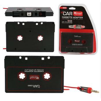 Nowy taśma Audio Adapter wtyczka jack 3 5mm czarny samochód Stereo Audio Cassette Adapter 110 cm do telefonu MP3 odtwarzacz CD tanie i dobre opinie Magnetofon Mayitr 2 5 Angielski Black Tape Adapter 0 03 ABS Plastic 10 x 6cm MP3 Players
