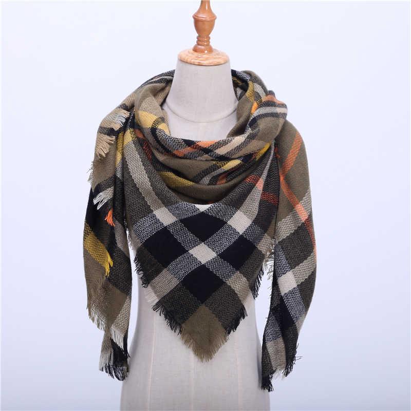 Новинка 2019, весенне-зимний женский шарф, мягкие теплые кашемировые шарфы в клетку, высококачественные женские шали и пашмины, женские бандана