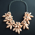 N2016063004  High Quality z necklaces fashion chunky luxury choker acrylic flower necklace statement jewelry wholesale for women