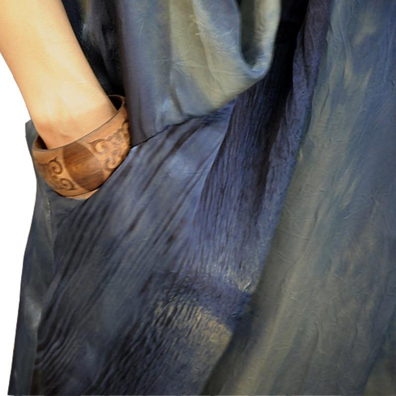 V Taille Hem Femme Pour Femmes Grande Vêtements Chicever Cou Vintage Robe 2018 De Hit Robes Split Marée Mode D'été Blue Dress Couleurs 4Fqq0AZp