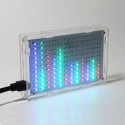 Бесплатная доставка Оптовая цена светодиодный музыкальный спектр электронный DIY светодиодный Вспышка 12 * 11FFT с корпусом акриловый чехол