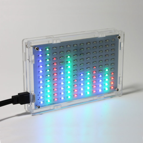 Free Shipping Wholesale Price LED Music Spectrum Electronic DIY LED Flash Kit 12*11FFT With Housing Acrylic Case