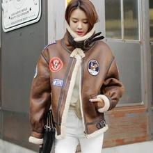 Free shipping ! 2016 new winter thicken brown black long-sleeved leather short coats woman street fur jackets womens clothing