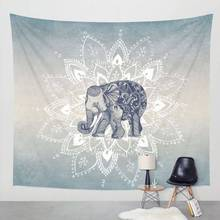 Elefante Tapices Aubusson de Color Decorativo Impreso Mandala Tapiz Religioso Indio Boho Pared Alfombra de la Sala Manta SS6