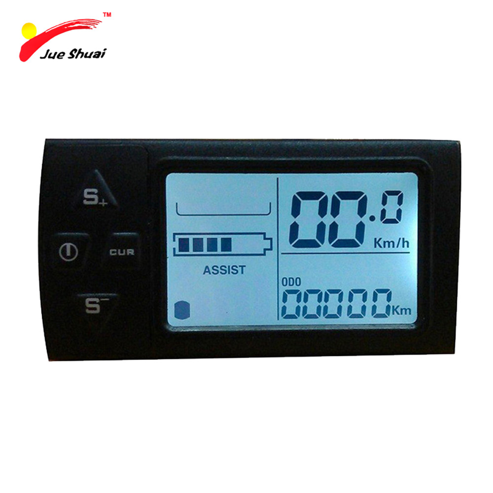 JS LCD Display for Electric Bicycle Waterproof Original Connector Manual Control Panel Mount on the Bike Handlebar 36V Cycling js lcd display for electric bicycle waterproof original connector manual control panel mount on the bike handlebar 36v cycling