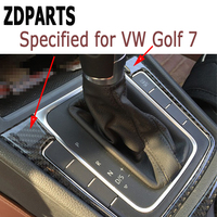 ZDPARTS 1PCS Carbon Fiber Gears Shift Panel Trim Stickers for Volkswagen VW Golf 7 GTI R GTE GTD MK7 2013 2014 2015 2016 2017