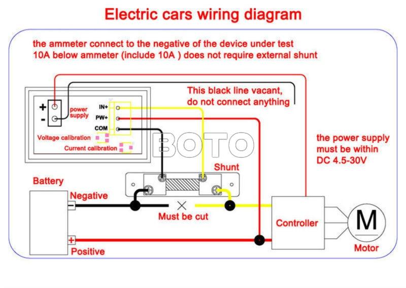 100 pcs lot yb27 va volt amp meter digital voltmeter ammeter led dc rh aliexpress com Voltmeter Wiring-Diagram Aftermarket Amp Gauge Wiring Diagram