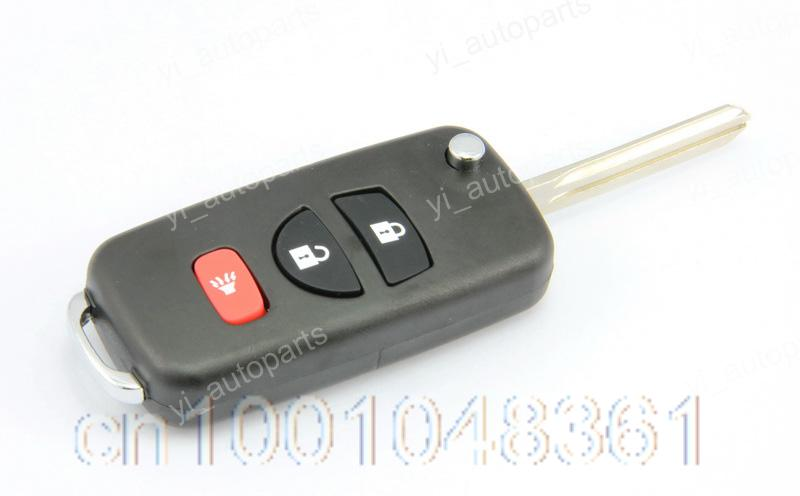 Remote Flip Folding Key Shell Case Keyless Cover Replacement Fit For Nissan Xterra Front ...