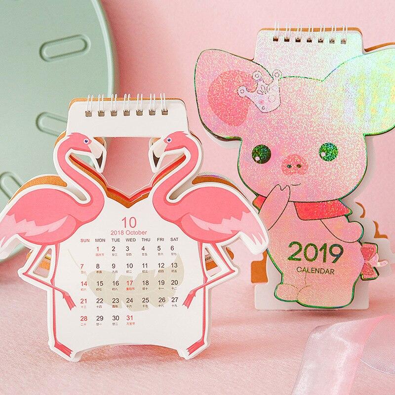 Calendar Analytical 2019 Cute Cartoon Cat Van Gogh Table Calendar Desk Planner Paper Stationery Office School Supplies 2018.08~2019.12