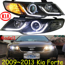 KlA Forte headlight,Cerato,K3,2009~2013 (LHD,RHD need add 200USD),Free ship!KlA Forte daytime light,2ps/se+2pcs Aozoom Ballast
