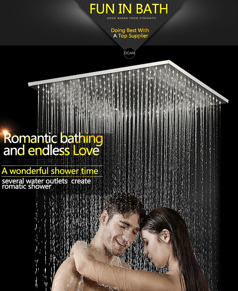3Jets Intelligent Digital LCD Display Rain Shower Set Installed in Wall 20 SPA Mist Rainfall Thermostatic Touch Panel Shower (9)