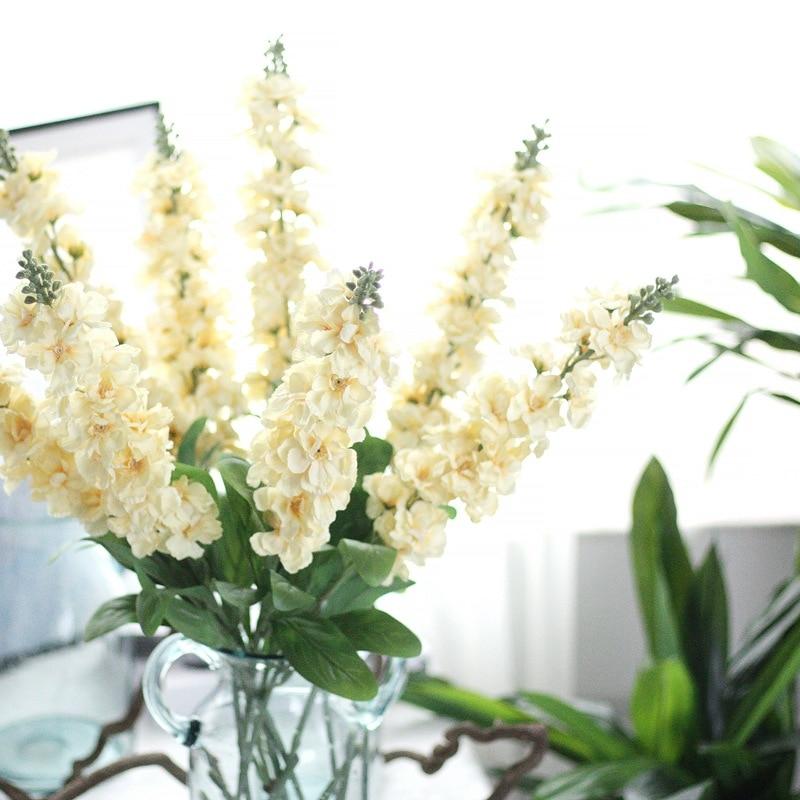 2Pcs/lot eternal charm Delphinium artificial fake silk flower violet home garden party wedding decoration real touch plant