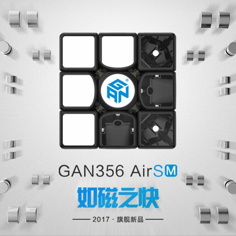 Gan 356 Air SM 3x3x3 Version de mise à jour 2019 Cube de vitesse magnétique professionnel 3x3 Cube magique Puzzle torsion jouets éducatifs pour enfant - 3