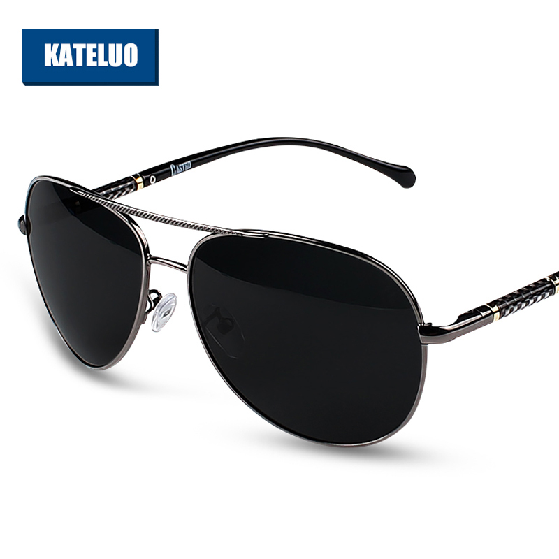 Pánské sluneční brýle KATELUO Polarizované čočky Sluneční brýle Pánské klasické brýle Příslušenství pro muže gafas oculos 7751