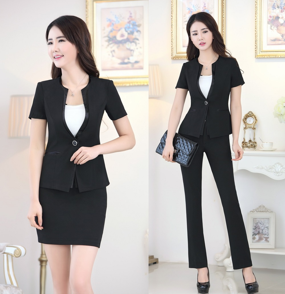 Office uniform designs women business suits formal pant for Office design uniform